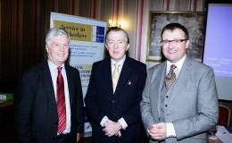 Ian Martin Mrtin Services Minsiter John Perry TD and Scott Golden Canal LES at launch of Canal Business Network Oct 17 2012