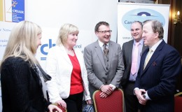 Karen Martin Martin Services with  Noeleen Rooney Dolphin Electrical Scott Golden Canal LES John Perry TD Minister for Small Bu