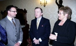 Scott Golden Canal LES Ministe John Perry TD and Evelyn Lane Canal LES at launch of Canal Business Network Oct 17 2012