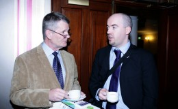 Brendan Moran Enterprise Ireland and a guest at launch of Canal Business Network Oct 17 2012