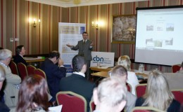 Speaker and guests at launch of Canal Business Network Oct 17 2012